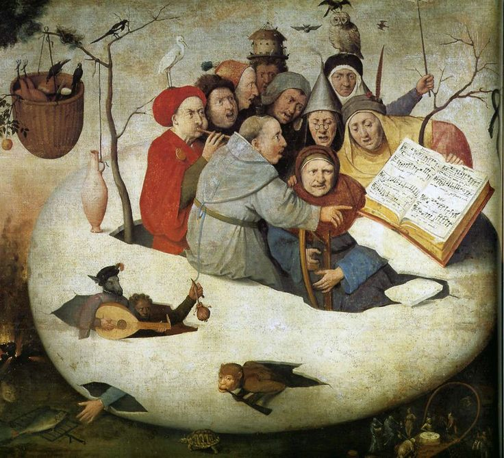 Follower of Hieronymus Bosch - Concert in the Egg. 1561