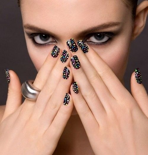 New Year Eve Nail Art Design 2015 New Year Multi Colored Nail Polish 2015