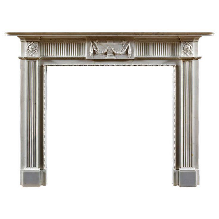 Antique Neoclassical Georgian Fireplace Mantle   From Jamb via https://www.1stdibs.com/furniture/building-garden/fireplaces-mantels/