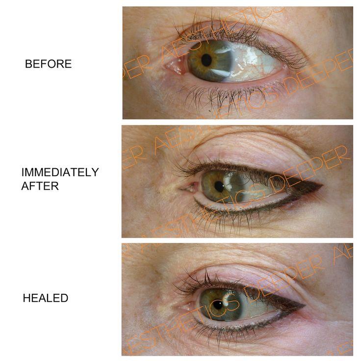 Semi-permanent eyeliner. www.deeperaesthetics.co.uk