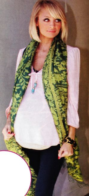 Nicole Richie and her Batik Scarf. She is wearing is an Indonesian Batik silk slendang or scarf adorned with fringes.