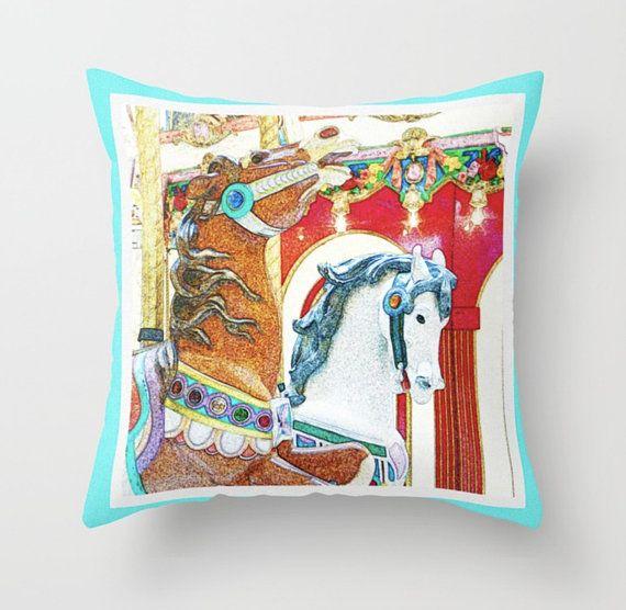 Prance ~ Carousel Pillow ~ Bright Nursery Pillow ~ Carousel Horse Pillow ~ Merry Go Round Pony Carnival Pillow ~ Children's Room Decor ~ Toddler Pillowcase #pillow #pillows #nursery #nurserydecor #carousel #carouselpony #carouselhorse #horse #horsepillow #merrygoround #NancyJsLifestyle #summerfun #carouselpillow #brightnurserypillow #bright #nurserypillow #carnival #carnivalpillow #childrensroomdecor #toddler #pillowcase