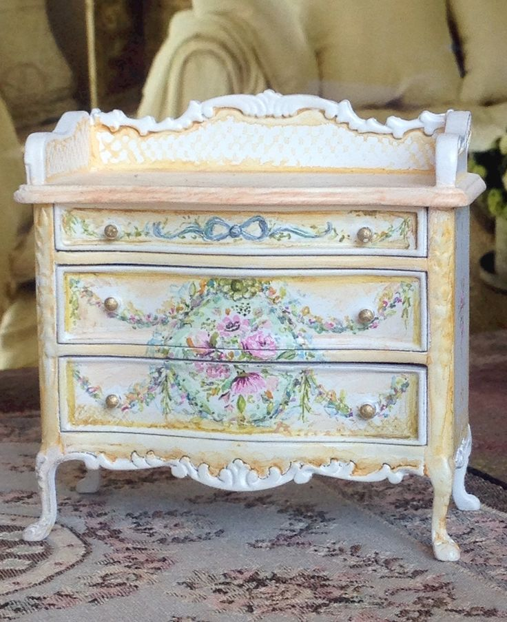 special dollhouse kitchen furniture 1x12. soft yellow french commode 112 dollhouse by maritzaminiatures special kitchen furniture 1x12