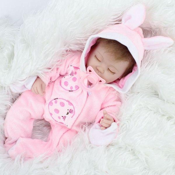 "16/""Sleeping Newborn Vinyl Silicone Reborn Baby Doll Xmas Gift Toy Lifelike Girls"