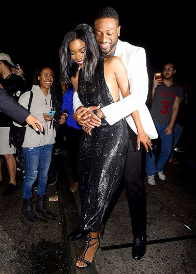 After turning heads on the red carpet at the Met Gala, Gabrielle Union and husband Dwyane Wade hugged it out outside Rihanna's after party at Up&Down presented by D'USSE and Armand de Brignac in NYC May 4.