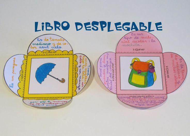 Escritura Creativa: Libro desplegable para describir objetos.                                                                                                                                                                                 Más