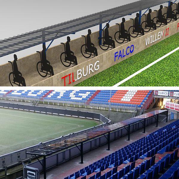 Mindervalide overkapping Willem II op maat gemaakt