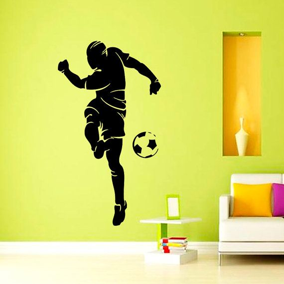 Vinyl Wall Decals Soccer Player Football Sport Decal Boy Room Kids Nursery Decal  Sticker Home Decor Art Mural Part 65
