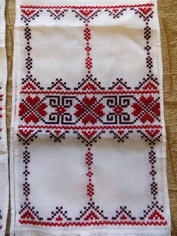 Lot of 2 RUSHNYK RUSHNIK Hand embroidered Ukrainian wedding