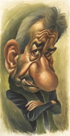 Caricature of José Sacristán by Vizcarra