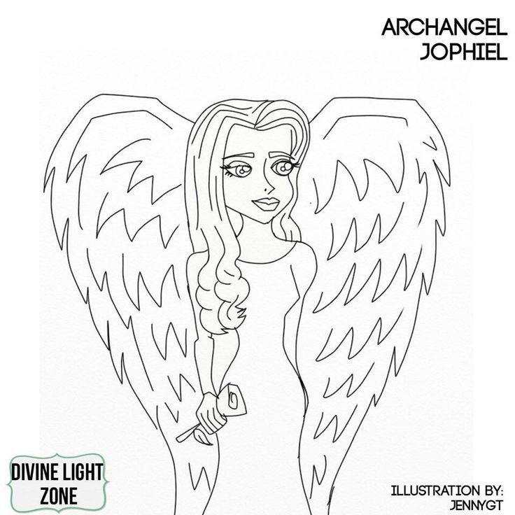 Archangel Jophiel Free Colouring Image