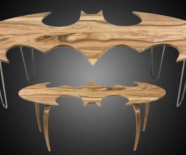 These Batman Logo Coffee Tables are a Must for Any Superhero's Hom #superhero #decor trendhunter.com