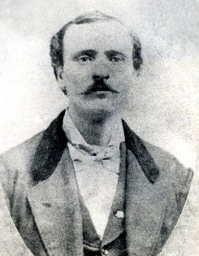 Jim Reed (18??-1874)  he married Belle Starr November 1, 1866.  Reed became involved with the Tom Starr gang, rustling cattle.  Reed  later became involved with the James-Younger Gang as well as continuing to ride with Tom Starr's gang. In April, 1874, he robbed the Austin-San Antonio stage, with the law hot on his tail, Jim Reed was killed by a deputy sheriff at Paris, Texas, in August 1874.