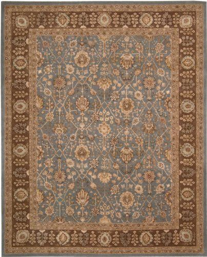 "Nourison 3000 Light Blue Traditional Persian 3'9"" x 5'9"" Rug (3102) by Nourison Rugs. Nourison 3000. 3102. Nourison Rug. Silk Wool Rug. Oriental Rug. Enjoy the beauty and sophistication of one of these heirloom style rugs in any room of your home for years to come."