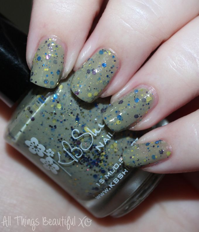KBShimmer Fall 2015 Swatch Open Toad Shoes Swatches & review of the KBShimmer Fall 2015 nail polish shades in Teal it to My Heart, Be Scareful, Fig-Get About It, Open Toad Shoes, Carpe Denim, & Breaking Blues. This is part #1 of 2 on All Things Beautiful XO | www.allthingsbeautifulxo.com