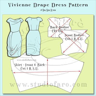 Cut the Vivienne Drape Dress pattern #InAnAvo! :)  #DrapeDress #sydney #marrickville