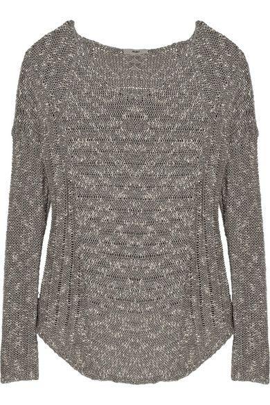 Хельмут Ланг   Bouclé хлопок-смесь свитер   NET-A-PORTER.COM