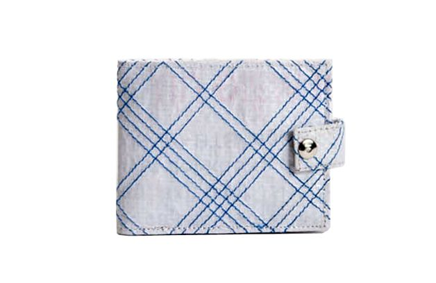 Plaid Wallet With Snap. Buy this and create economic opportunities for survivors and women at risk of trafficking.