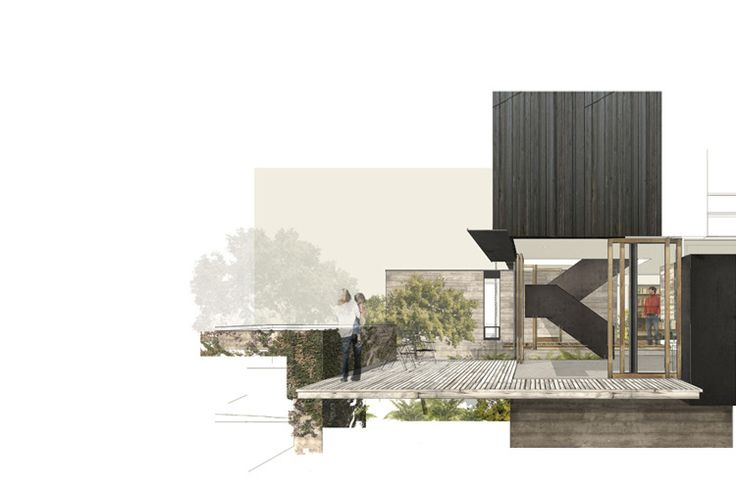 Courtyard House_ mw works... love their collage style