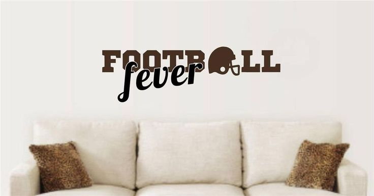Football Fever Sports Decor Vinyl Decal Wall Stickers Words Lettering Game Room #EnchantinglyElegant #Removablevinylwalldecals