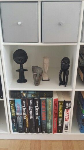 Miniature sculptures Montana book shelves