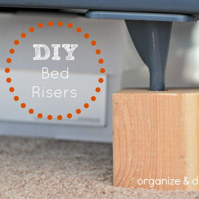 DIY bed risers - inexpsensive and cheap!