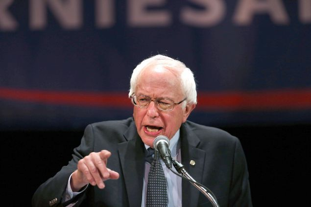 Home in New York, Bernie Sanders Bashes Parallel Universe Republican Party