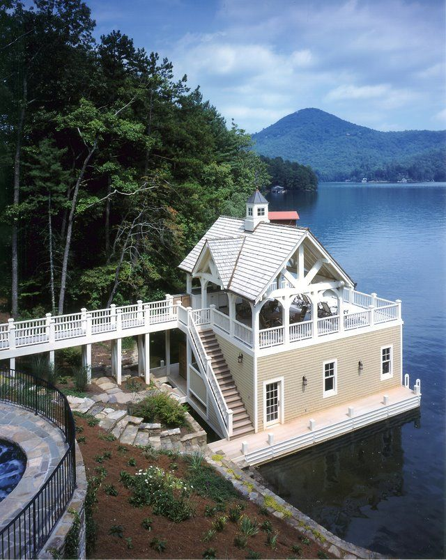 perfect lake boat house