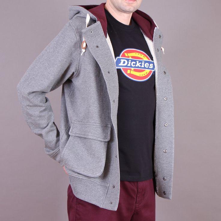 Szara bluza z kapturem Dickies Erie Dark Gray Melange / www.brandsplanet.pl / #dickies streetwear