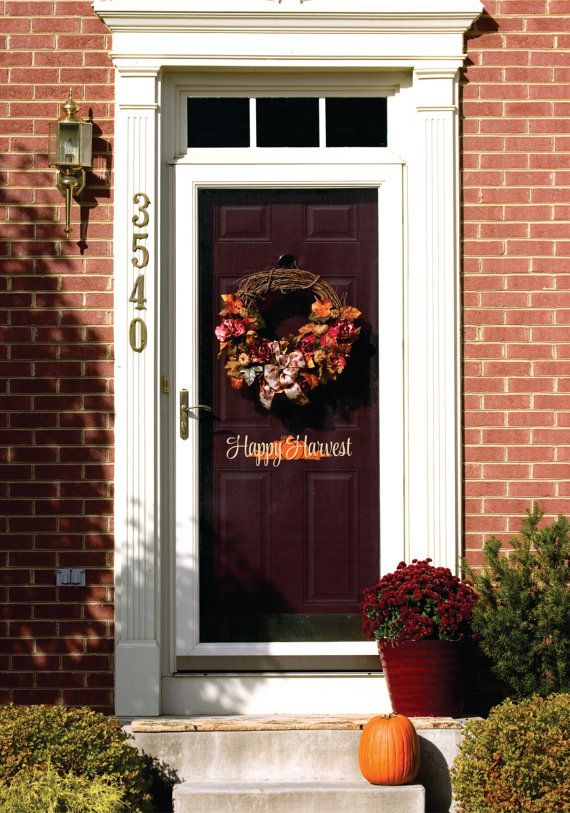 A fun way to greet guests for the holidays!  This #Thanksgiving wall decal can be customised.