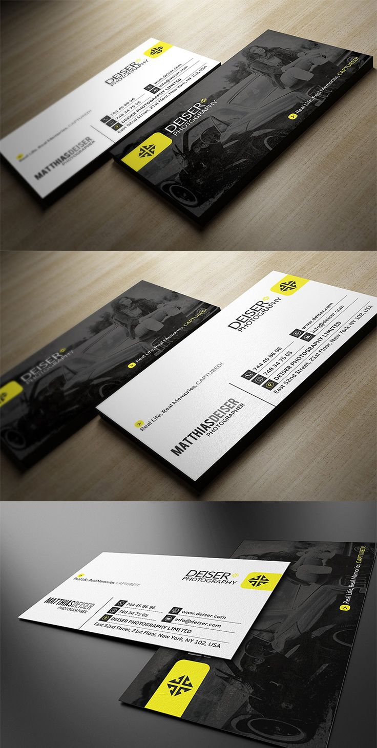 Photography Business Card Templates Designwithred Psd Template Photoshop Illustrator
