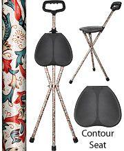 FashionableCanes.com Casual Creme Aluminum Seat Cane