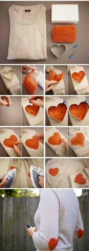 Elbow heart shirt