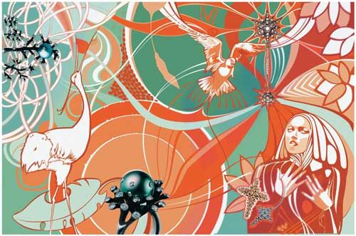 Irene m Jacobs illustration. pretty psychedelic