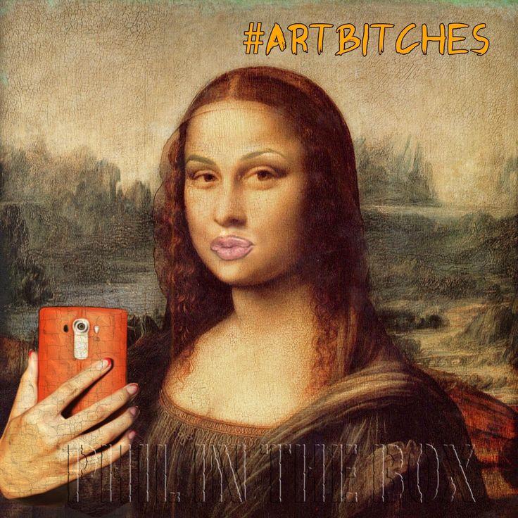 A personal favourite from my Etsy shop https://www.etsy.com/uk/listing/535433025/art-themed-card-selfie-joke-card-da