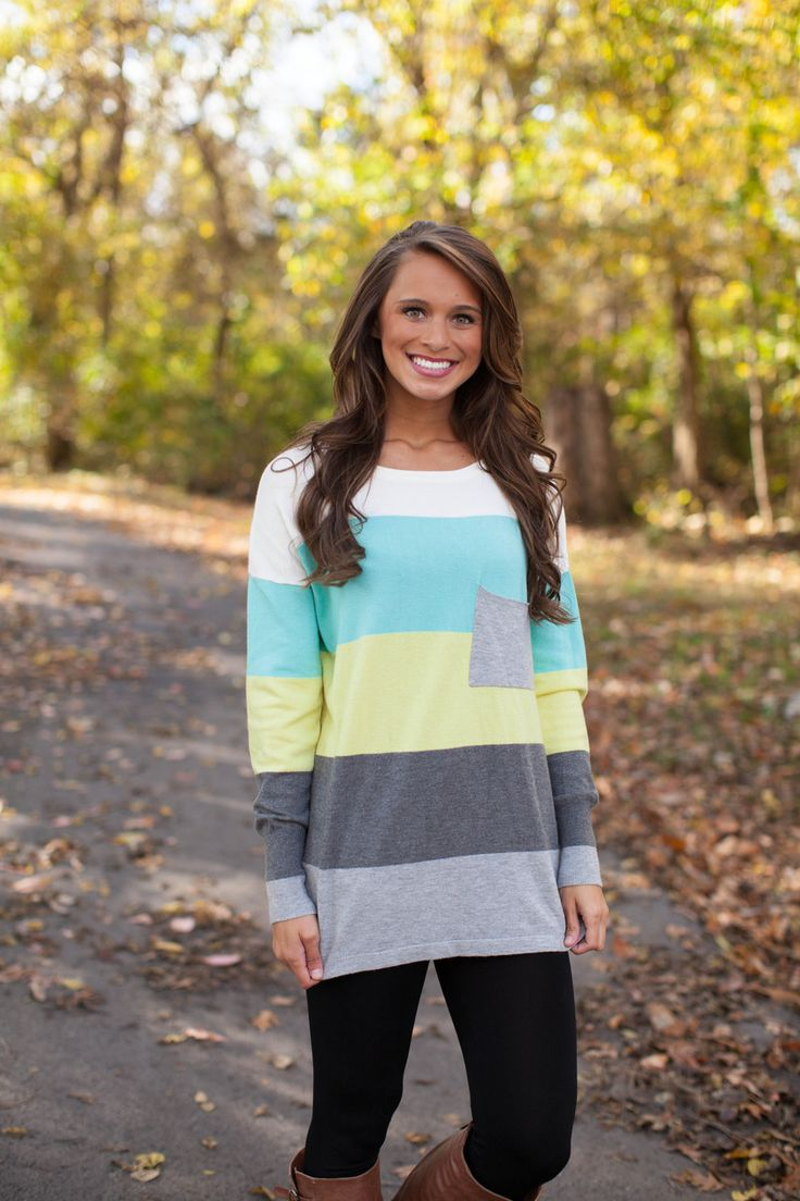 The Pink Lily Boutique - Colorblock Sweater, Yellow and Charcoal CLEARANCE! , $42.00 (http://thepinklilyboutique.com/colorblock-sweater-yellow-and-charcoal-clearance/)