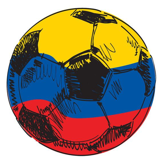 Colombia Flag Soccer Ball Sticker