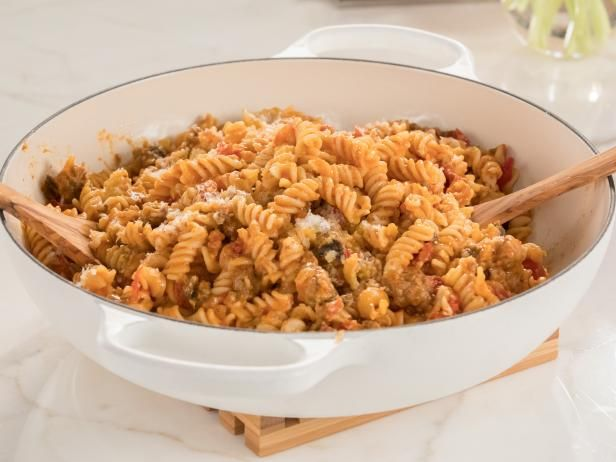 Sausage and Eggplant Fusilli Recipe | Giada De Laurentiis | Food Network