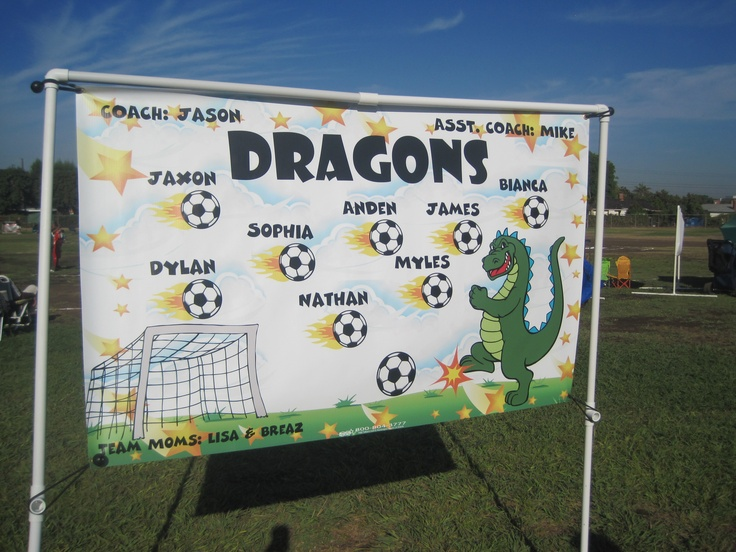 Soccer Banner - Too cute!