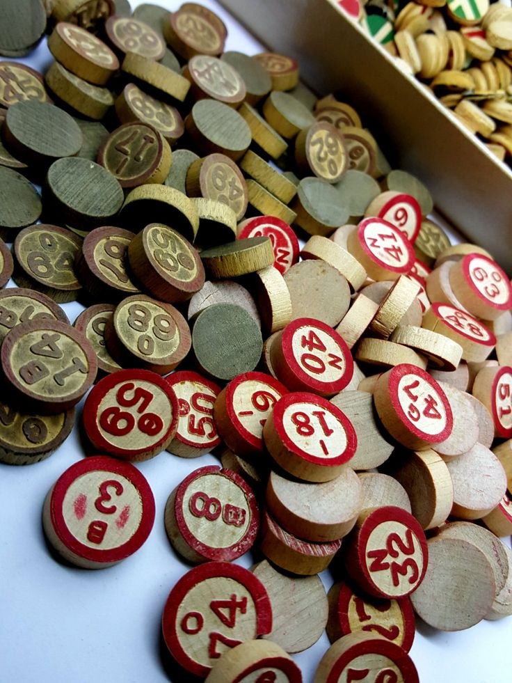 x100+ Vintage Embossed Wood BINGO Call Letters and Numbers Game Pieces from TWO Old Sets plus Wooden Markers by jasonwentcrazy on Etsy