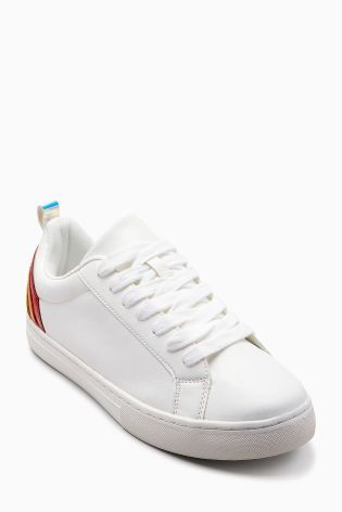 cb3d6de5ad560 Buy White Rainbow Lace-Up Trainers (Older) from Next USA