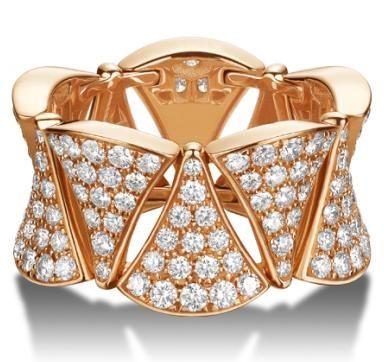 bvlgari diva rose gold diamond ring