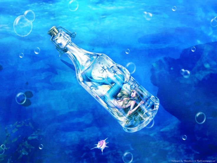 Anime Mermaid in a bottle by Tukiji Nao