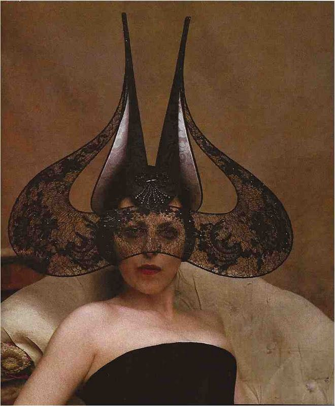 evil: Alexander Mcqueen, Fashion Icons, Lady Gaga, Isabella Blowing, Art Show, Style Icons, Philip Treacy, Fashion Hats, Cakes Design