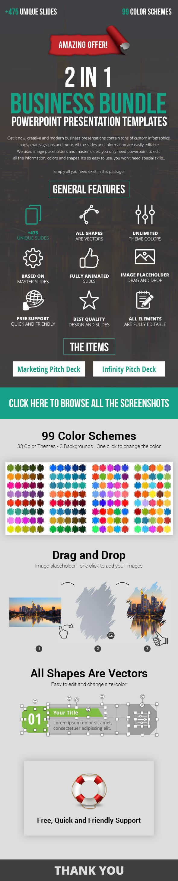 2 in 1 Great PowerPoint Pitch Deck Bundle 2017 - #Business #PowerPoint #Templates Download here: https://graphicriver.net/item/2-in-1-great-powerpoint-pitch-deck-bundle-2017/19550290?ref=alena994