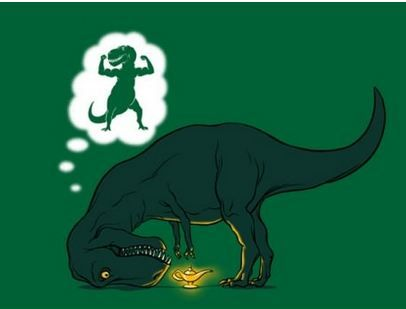 BahhhhT Rex, Poortrex, Dreams Big, Funny Stories, Funny Pictures, Funny Photos, Big Little, Poor Trex, Funny Memes