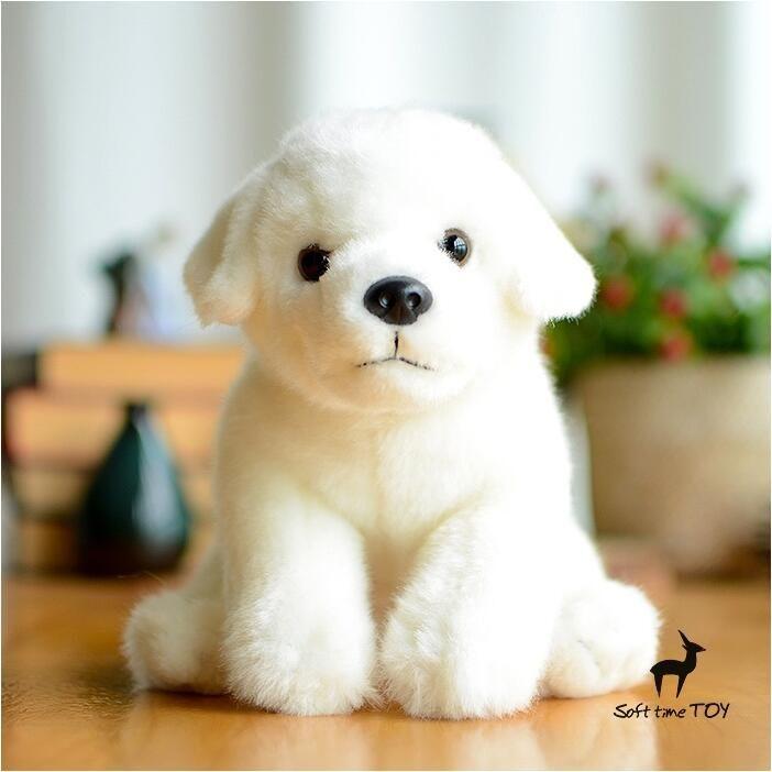 Чучела Животных Игрушка Супер Каваи Белый Лабрадор Кукла Моделирования Собака Плюшевые Игрушки