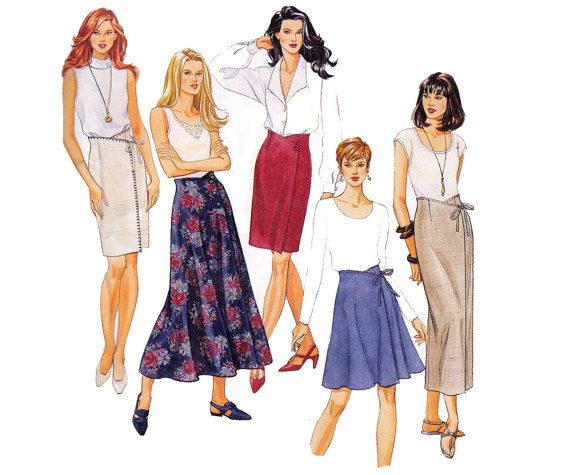 90s High Waisted Wrap Skirts pattern by allthepreciousthings