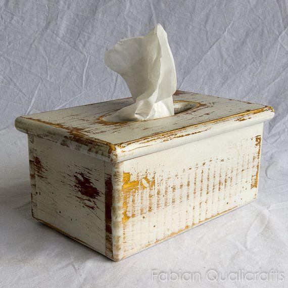 Wooden Rectangular Tissue Box Holder  Fits standard by fqcrafts