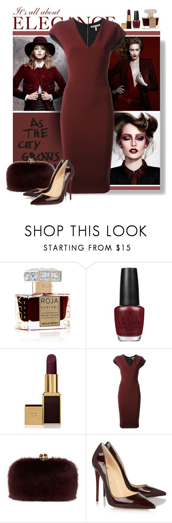 """""""no.99"""" by nina-k-307 ❤ liked on Polyvore featuring Roja Parfums, OPI, Tom Ford, Garcia, Victoria Beckham, Alexander McQueen and Christian Louboutin"""